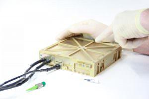 A short-pulse fiber laser for centimeter-accurate detection of space debris.