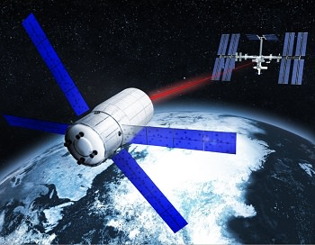 Fighting the perils of space debris: Fraunhofer IOF's fiber laser technology. Credit: Fraunhofer IOF Read more at: https://phys.org/news/2017-09-tracking-debris-earth-orbit-centimeter.html#jCp