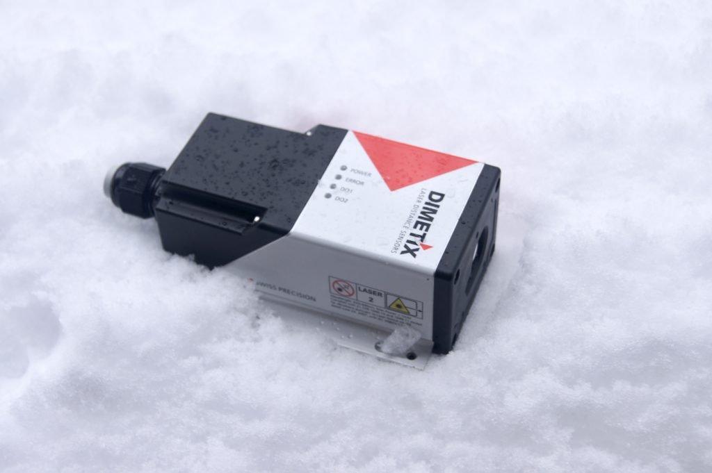 laser distance sensor in snow